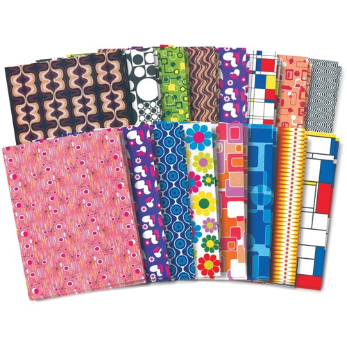 """Roylco Retro Pop-Paper - Craft Project, Decoration, Greeting Card, Scrapbooking, Collage, Invitation - 8.50"""" (215.90 mm)Width x 11"""" (279.40 mm)Length - 32 / Pack"""