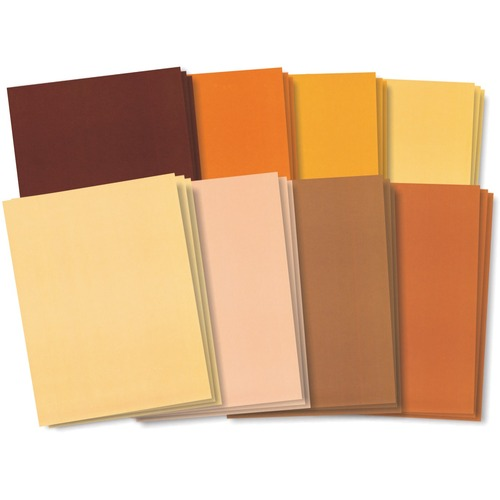 """Roylco Skin Tone Craft Papers - Education, Project, Report Cover, Collage, Scrapbooking - 8.50"""" (215.90 mm)Width x 11"""" (279.40 mm)Length - Skin Tone - 48 / Pack"""