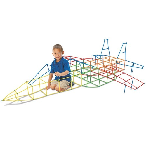 Roylco Straws And Connectors - Fun and Learning, Building Shapes - Recommended For 4 Year - 230 Piece(s)