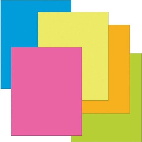 "UCreate Premium Coated Poster Board - Poster, Sign, Printing - 22"" (558.80 mm)Width x 28"" (711.20 mm)Length - 25 / Pack - Neon Pink, Neon Orange, Neon Blue, Neon Lemon, Neon Lime"