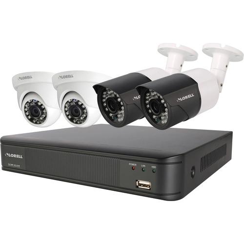 Lorell Weatherproof 5 Megapixel Security System - Digital Video Recorder, Camera