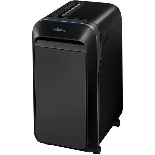 "Fellowes Powershred® LX220 Micro-Cut Shredder (Black) - Micro Cut - 20 Per Pass - for shredding Paper, Credit Card, Paper Clip, Staples, Junk Mail - 0.2"" x 0.5"" Shred Size - P-4 - 2.13 m/min - 9"" Throat - 20 Minute Run Time - 30.28 L Wastebin Capacity"