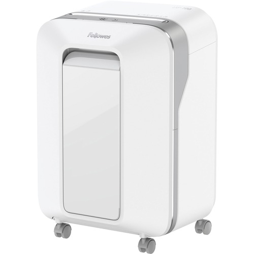 """Fellowes Powershred® LX200 Micro-Cut Shredder (White) - Continuous Shredder - Micro Cut - 12 Per Pass - for shredding Paper, Paper Clip, Credit Card, Staples, Junk Mail - 0.2"""" x 0.5"""" Shred Size - P-4 - 10 Minute Run Time - 15 Minute Cool Down Time - 2"""