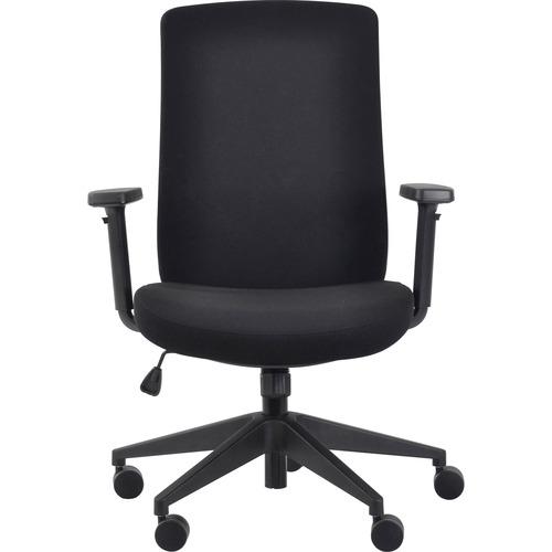 Eurotech Gene Fabric Seat/Back Executive Chair - Black Fabric Seat - Black Fabric Back - 5-star Base - 1 Each