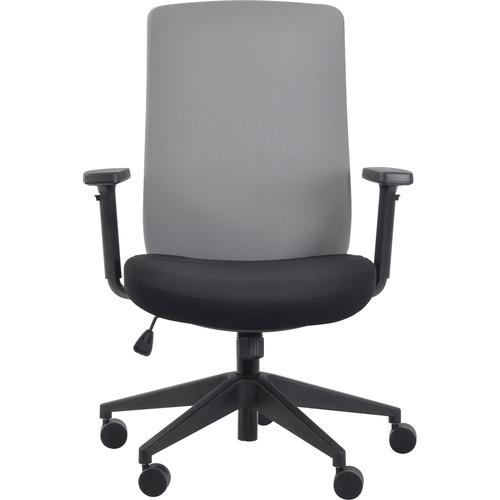 Eurotech Gene Fabric Seat/Back Executive Chair - Black Fabric Seat - Gray Fabric Back - 5-star Base - 1 Each