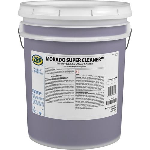 Zep Morado Super Cleaner - Concentrate Liquid - 640 fl oz (20 quart) - 1 Each - Purple, Clear