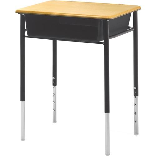 "ALUMNI Honor Roll DSQ-1824-PB Table Desk - Square Leg Base - 4 Legs x 24"" Table Top Width x 18"" Table Top Depth"