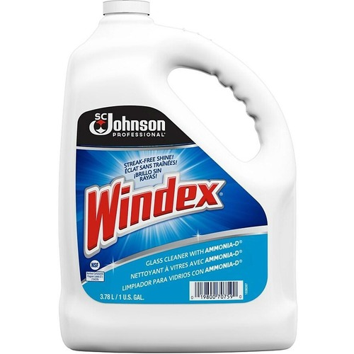 Windex® Glass Cleaners with Ammonia-D - 128.5 fl oz (4 quart) - 1 Each - Blue