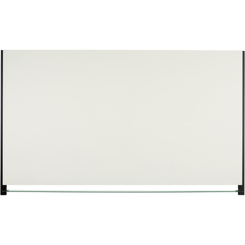 """Quartet Evoque Magnetic Glass Dry Erase Board - 39"""" (3.3 ft) Width x 22"""" (1.8 ft) Height - White Glass Surface - Black Aluminum Frame - Rectangle - Assembly Required - 1 Each"""