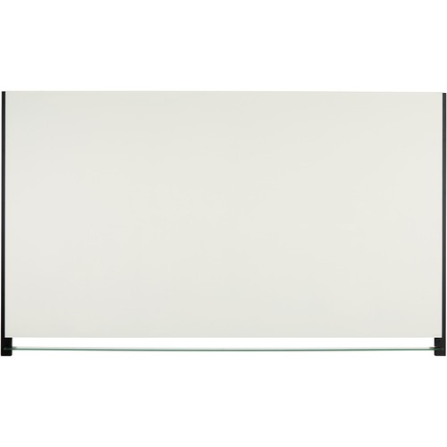 """Quartet Evoque Magnetic Glass Dry Erase Board - 50"""" (4.2 ft) Width x 28"""" (2.3 ft) Height - White Glass Surface - Black Aluminum Frame - Rectangle - Assembly Required"""