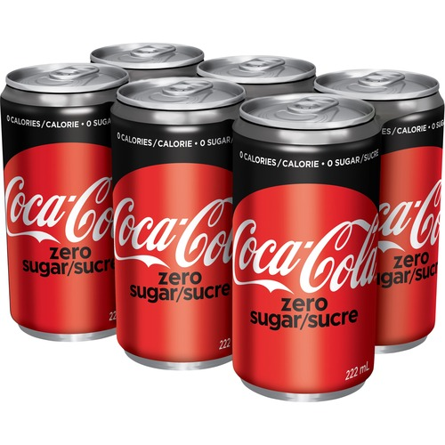 Coca-Cola Diet Coke Canned Soft Drink - Ready-to-Drink Diet - Original Flavor - 222 mL - 6 / Pack / Can