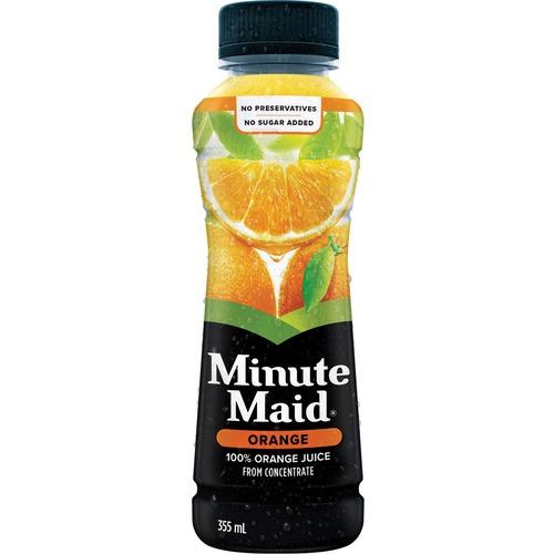 Minute Maid Orangeade Beverage Drink - Ready-to-Drink - Orange Flavor - 355 mL - 12 / Carton / Can