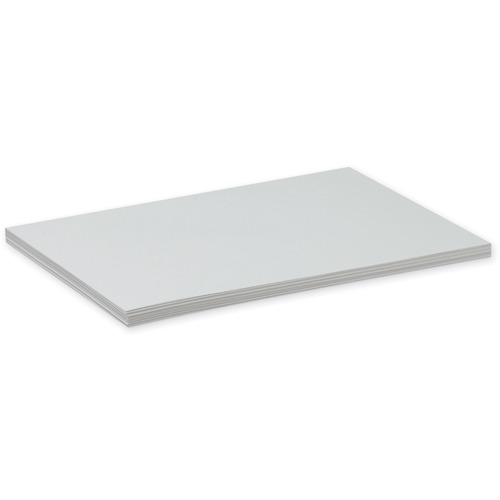 Pacon Drawing Sheet - 100 Sheets - White Paper - Mediumweight, Acid-free, Recyclable - 100 / Pack