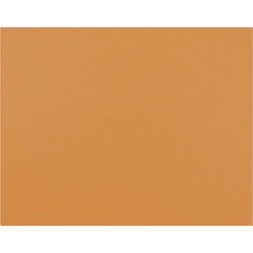 """Pacon Bristol Board - Art Project, Poster x 22"""" (558.80 mm)Width x 12 mil (0.30 mm)Thickness x 28"""" (711.20 mm)Length - 25 / Pack - Orange"""