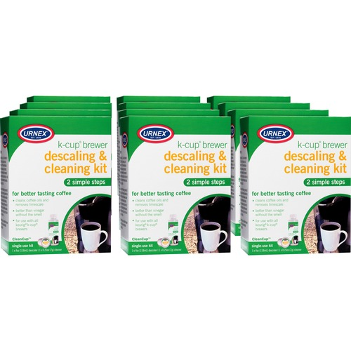 Weiman Urnex K-Cup Brewer Cleaning Kit - For Coffee Brewer - 12 / Carton - White