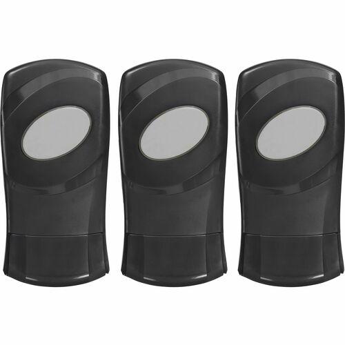 Dial FIT Manual Foam Soap Dispenser - Manual - 1.27 quart Capacity - Refillable, Durable - Slate - 3 / Carton