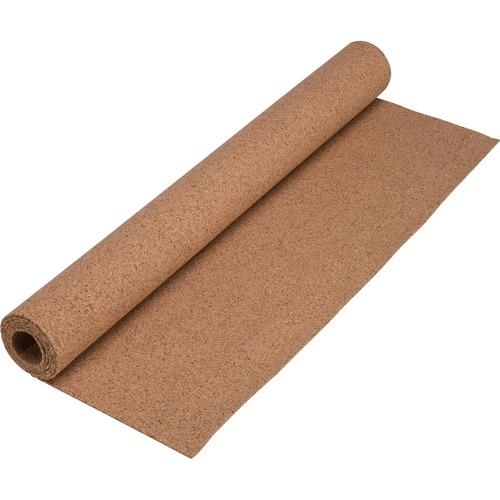 """Lorell Natural Cork Rolls - 48"""" (1219.20 mm) Height x 24"""" (609.60 mm) Width - Brown Natural Cork Surface - Tackable - 1 Each"""