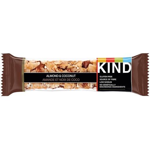KIND Almond & Coconut - Gluten-free, High-fiber, Low Sodium - Almond, Coconut - 40 g - 12 / Box