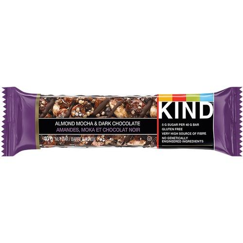KIND Almond Mocha & Dark Chocolate - Gluten-free, High-fiber - Almond Mocha, Dark Chocolate - 40 g - 12 / Box