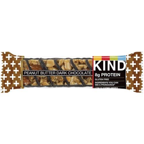 KIND Peanut Butter & Dark Chocolate - Gluten-free, High-fiber, Low Sodium - Peanut Butter Dark Chocolate - 40 g - 12 / Box