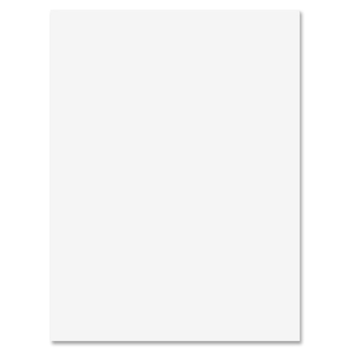 """Sparco All-purpose Construction Paper - Multipurpose, Art Project, Craft Project, ClassRoom Project - 0.50"""" (12.70 mm)Height x 9"""" (228.60 mm)Width x 12"""" (304.80 mm)Length - 50 / Pack - Bright White"""