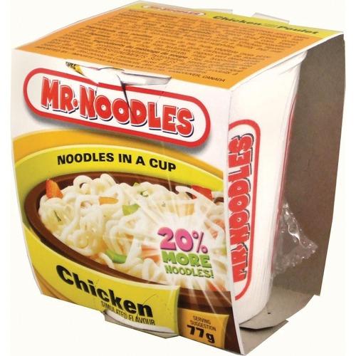 Mr. Noodles Soup - Chicken - Cup - 64 g - 12 / Case