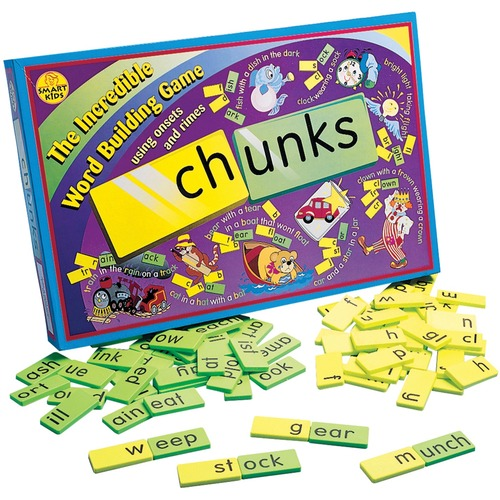 Didax Chunks Game - Skill Learning: Word Building, Concentration, Phonic Skill, Spelling, Word Recognition, Vocabulary, Visual - 6 Year & Up