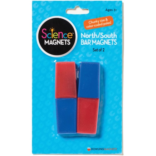 Dowling Magnets North/South Bar Magnets - Skill Learning: Magnetism, Color, Exploration, Shape, Magnetic Polarity - 3 Year & Up