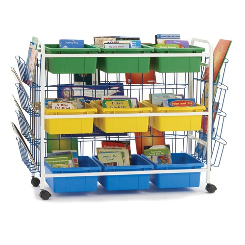 """Copernicus Deluxe Leveled Reading Book Browser Cart - 40.82 kg Capacity - 4 Casters - 2"""" (50.80 mm) Caster Size - x 49"""" Width x 21"""" Depth x 36.5"""" Height - 1 Each"""