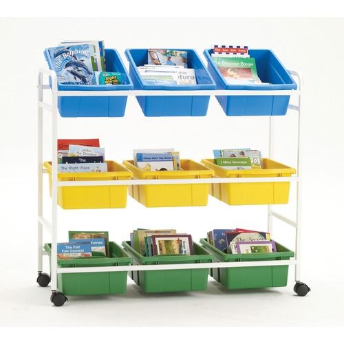 """Copernicus Leveled Reading Book Browser 9 - 40.82 kg Capacity - 4 Casters - 2"""" (50.80 mm) Caster Size - x 40.5"""" Width x 15.8"""" Depth x 36.5"""" Height - 1 Each"""