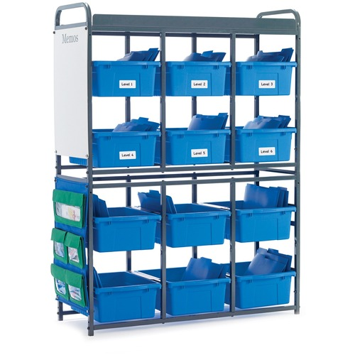 """Copernicus Storage Room Organizer for Leveled Literacy Programs - 12 Compartment(s) - 57"""" Height x 41"""" Width x 15"""" Depth - Floor"""