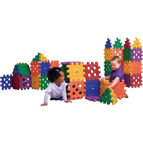 CarePlay Grid Blocks - Skill Learning: Creativity, Color, Measurement - 3-5 Year