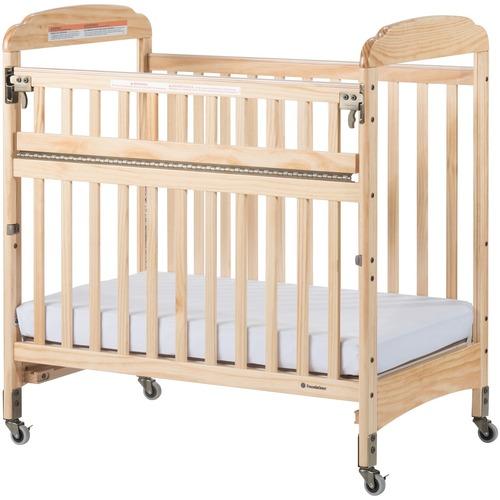 Foundations Next Gen Serenity SafeReach Compact Crib - Natural - Steel