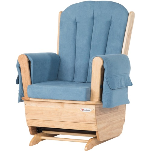 Foundations SafeRocker Rocking Chair - Natural, Blue - Steel, Foam - Yes - 1 Each