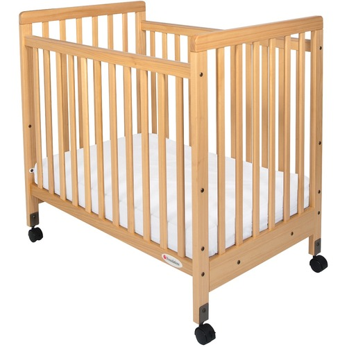 Foundations SafetyCraft Compact Crib - Natural - Steel