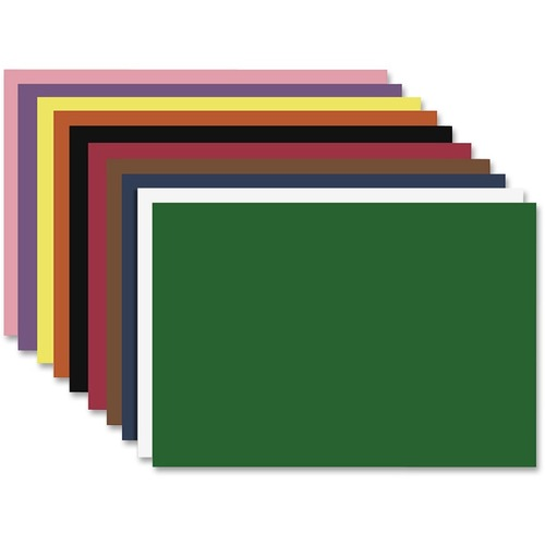 """S. P. Richards Nature Saver Construction Paper - Art Project, Craft Project, ClassRoom Project - 12"""" (304.80 mm)Width x 18"""" (457.20 mm)Length - 50 / Pack - Assorted - Fiber"""