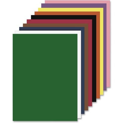 """S. P. Richards Nature Saver Construction Paper - Art Project, Craft Project, ClassRoom Project - 9"""" (228.60 mm)Width x 12"""" (304.80 mm)Length - 50 / Pack - Assorted - Fiber"""