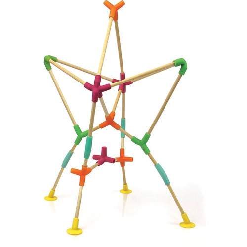 Fat Brain Toys Joinks - Skill Learning: Creativity, Imagination, Building, Fine Motor, Visual - 3 Year & Up - 76 Pieces