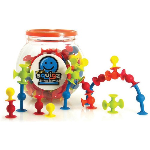 Fat Brain Toys Mini Squigz - Skill Learning: Building, Imagination, Construction, Fine Motor - 5 Year & Up - 75 Pieces