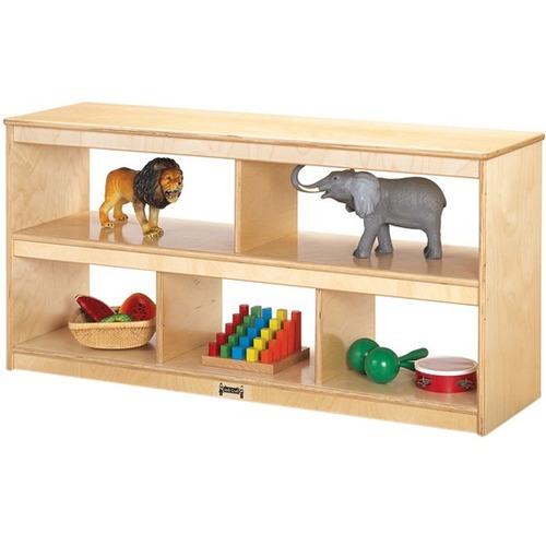 """Jonti-Craft Open Toddler Shelf - 5 Compartment(s) - 24.5"""" Height x 50"""" Width x 15"""" Depth - Baltic Birch"""