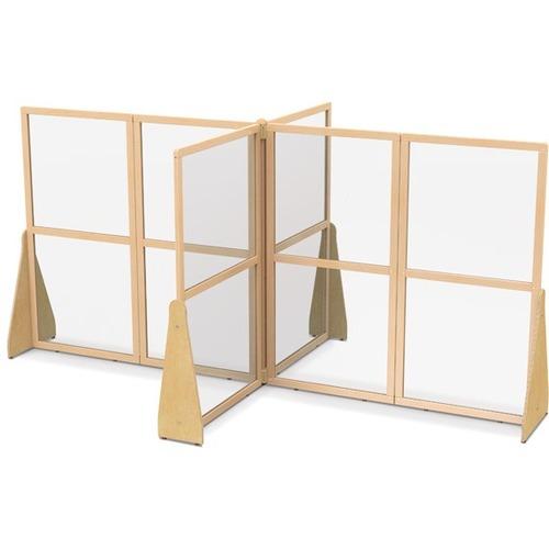 "Jonti-Craft See-Thru Large Crib and Space Divider - Quad x 126"" Width x 76.5"" Depth x 59.5"" Height - Hard Maple"