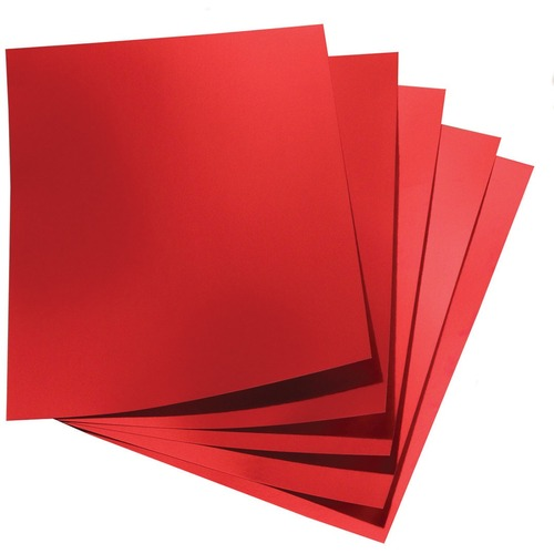 """Hygloss Metallic Foil Board - 1 Sheet 20"""" x 26"""" - Red - Holiday Craft, Party, Gift, Decoration, Greeting Card, Poster - 20"""" (508 mm)Width x 26"""" (660.40 mm)Length - 1 Sheet - Red - Card Stock"""