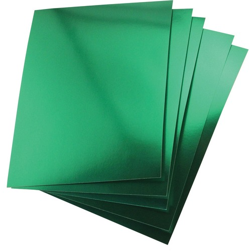 """Hygloss Metallic Foil Board - 1 Sheet 20"""" x 26"""" - Green - Holiday Craft, Party, Gift, Decoration, Greeting Card, Poster - 20"""" (508 mm)Width x 26"""" (660.40 mm)Length - 1 Sheet - Green - Card Stock"""