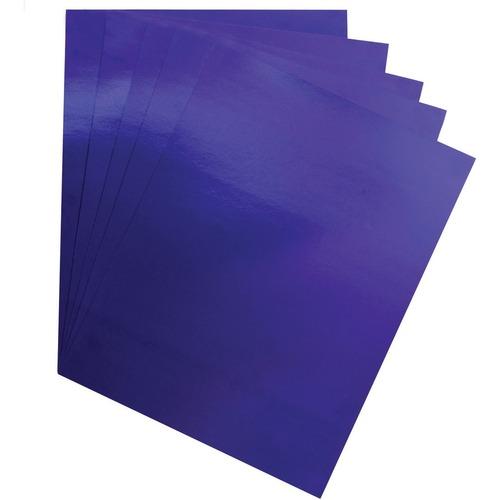"Hygloss Metallic Foil Board - 1 Sheet 20"" x 26"" - Dark Blue - Holiday Craft, Party, Gift, Decoration, Greeting Card, Poster - 20"" (508 mm)Width x 26"" (660.40 mm)Length - 1 Sheet - Dark Blue - Card Stock"