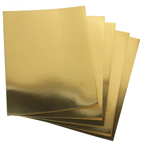 """Hygloss Metallic Foil Board - 1 Sheet 20"""" x 26"""" - Gold - Holiday Craft, Party, Gift, Decoration, Greeting Card, Poster - 20"""" (508 mm)Width x 26"""" (660.40 mm)Length - 1 Sheet - Gold - Card Stock"""
