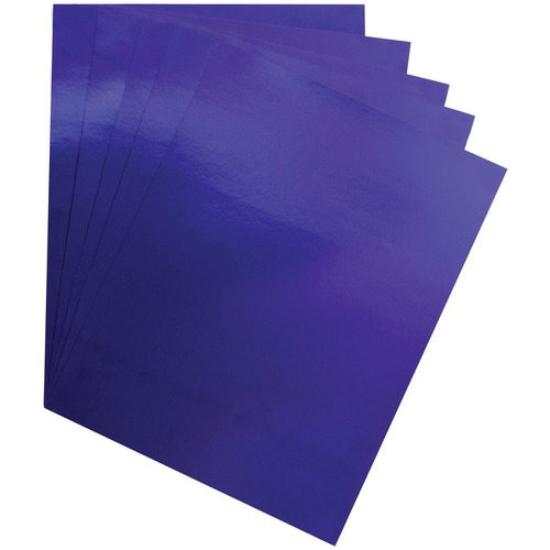"""Hygloss Metallic Foil Board - 1 Sheet 20"""" x 26"""" - Purple - Holiday Craft, Party, Gift, Decoration, Greeting Card, Poster - 20"""" (508 mm)Width x 26"""" (660.40 mm)Length - 1 Sheet - Purple - Card Stock"""