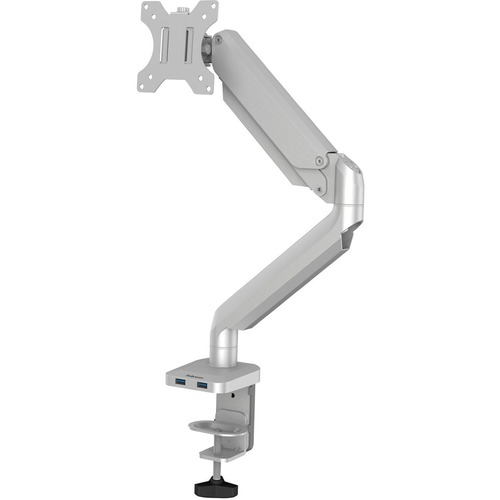 """Fellowes Platinum Mounting Arm for Monitor - Silver - 1 Display(s) Supported27"""" Screen Support - 9.07 kg Load Capacity"""