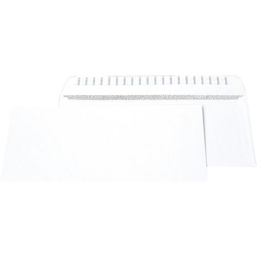"Supremex Peel & Seal Envelope - Security - #10 - 9 1/2"" Width x 4 1/8"" Length - 24 lb - Peel & Seal - 500 / Box - White"