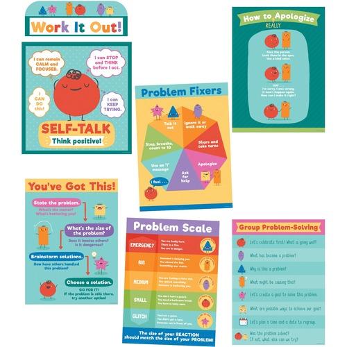 Carson Dellosa Education Social Problem-Solving Bulletin Board Set - Skill Learning: Problem Solving, Visual, Strategy, Creativity - 7 Pieces Set
