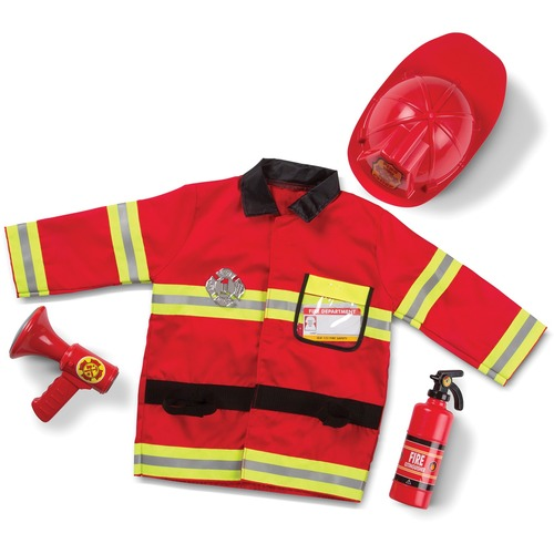 Melissa & Doug Fire Chief Role Play Costume Set - Bright Red